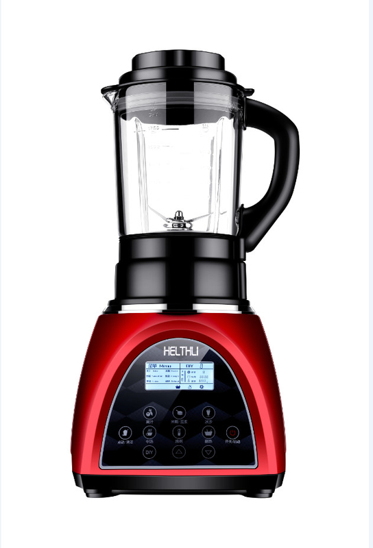 Red High Power Food Processor Intelligent Stirring For Home Juicer And Soup Maker